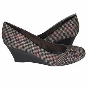 Dexflex Comfort Brown Tweed Wedge Heel 8.5